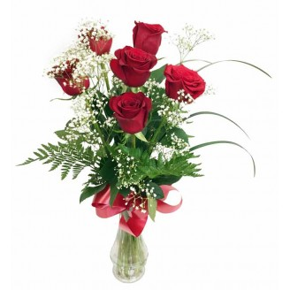 Simply Red Rose Bouquet