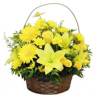 Sunshine Yellow Basket