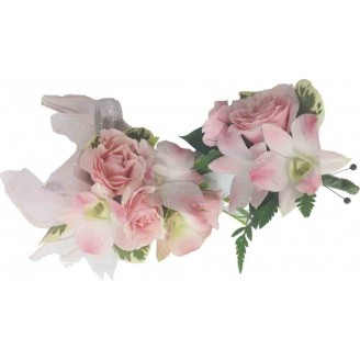 Enchantment Pink Corsage and Boutonniere