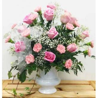 Pink Comfort and Peace Arrangement