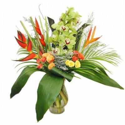 Bright Tropical Bouquet